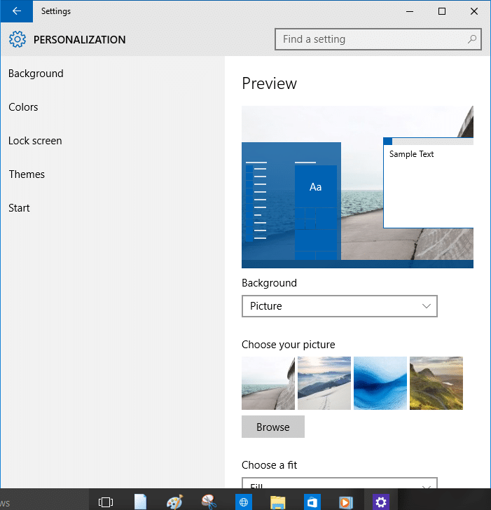Open Settings Windows 10 Step5