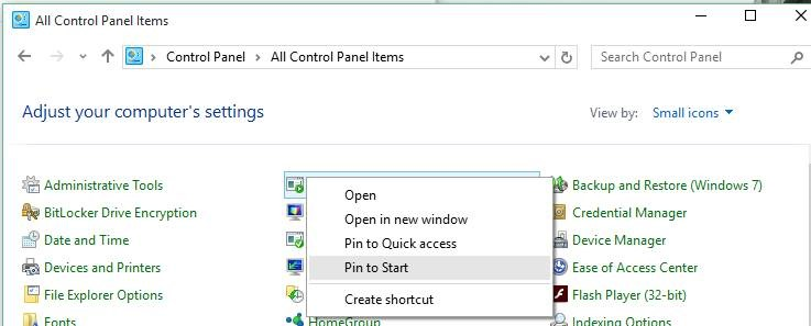 How To Pin Specific Settings To Start Menu In Windows 10