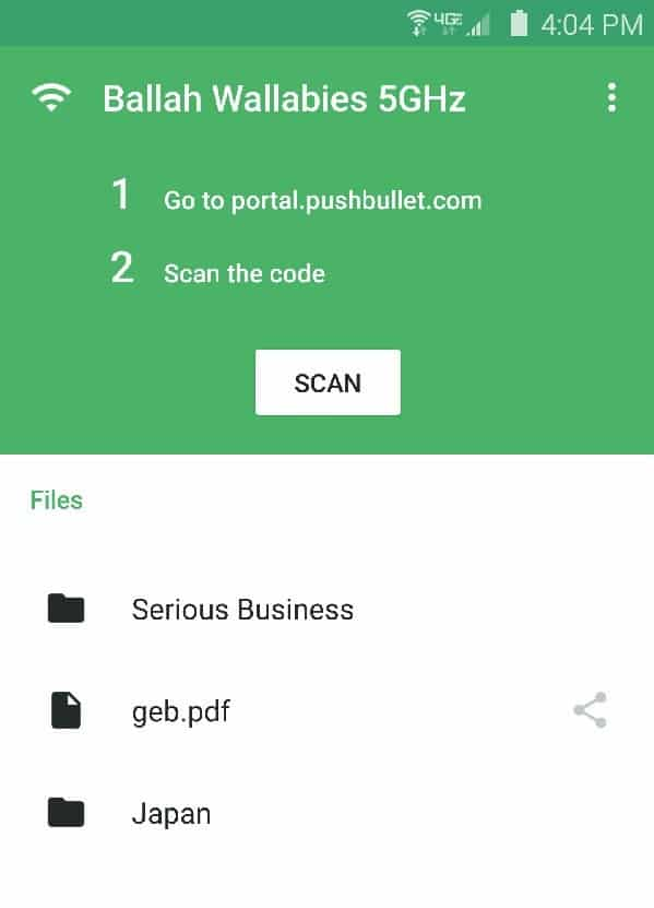 Pushbullet Portal app picture1