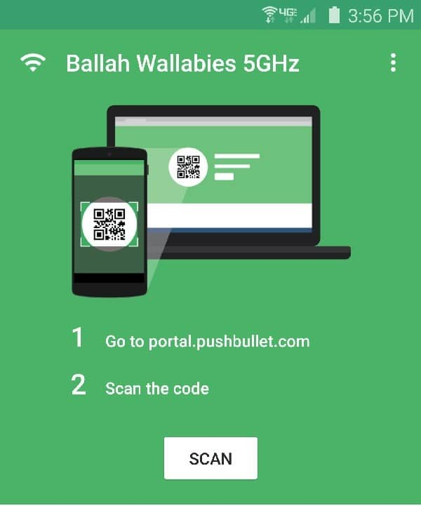 Pushbullet Portal app