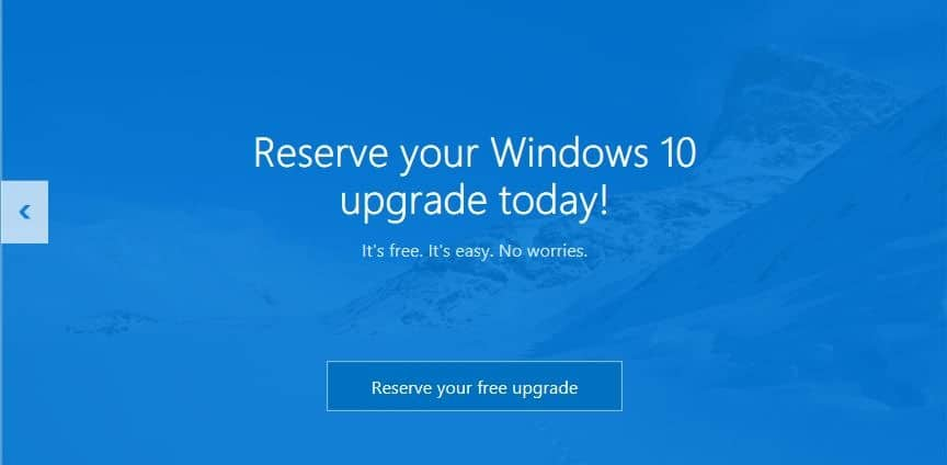 Reserve your Windows 10 free upgrade copy