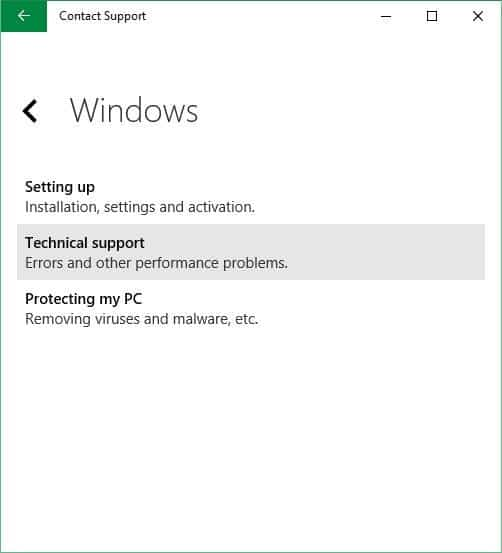 Schedule a call back from Microsoft in Windows 10 step4