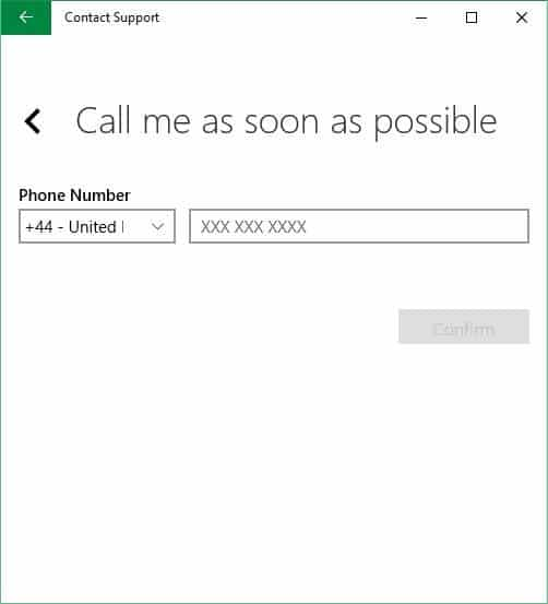 Schedule a call back from microsoft picture1