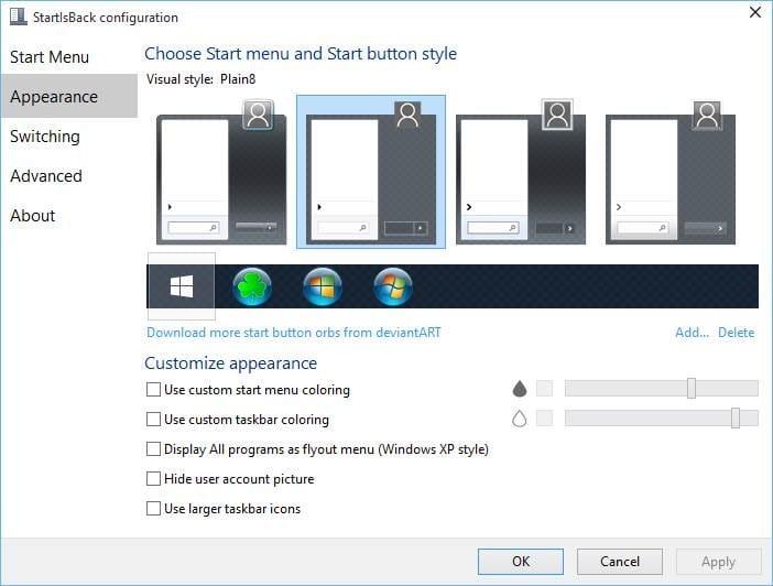 StartIsBack++ For Windows 10