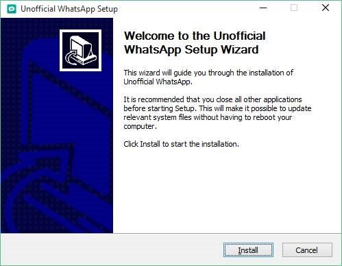 how do i install whatsapp on windows 10