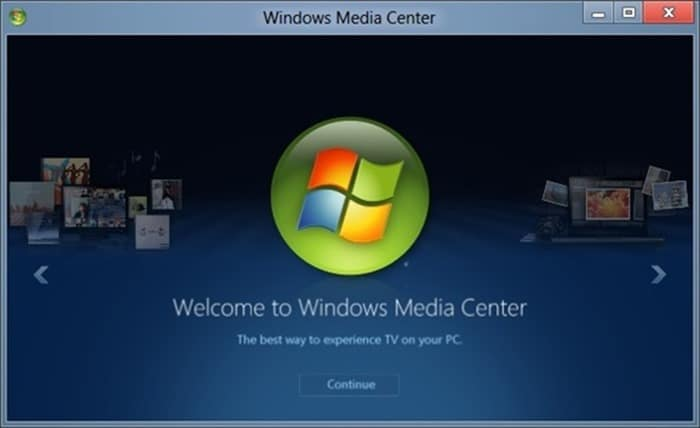 Windows Media Center on Windows 10