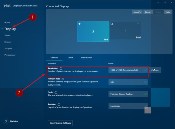 change screen resolution in Windows 10 pic1