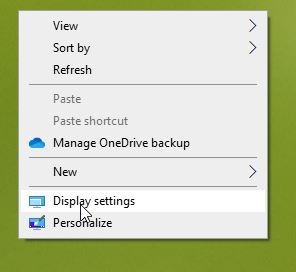 change screen resolution in Windows 10 pic2