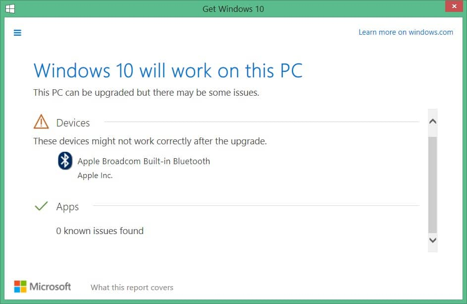 check what apps you keep Windows 10 upgrade picture5