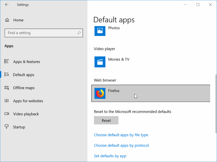 set Google Chrome as the default search engine in Windows 10