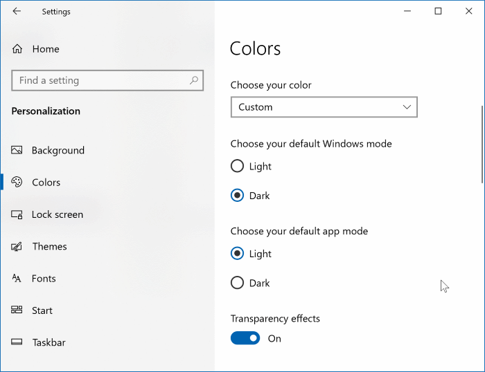 make Windows 10 taskbar transparent