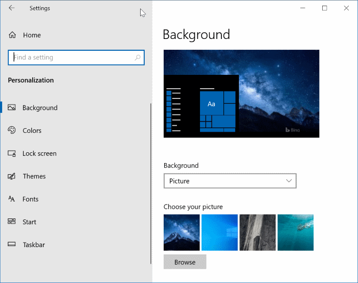 open settinsg in Windows 10 pic7