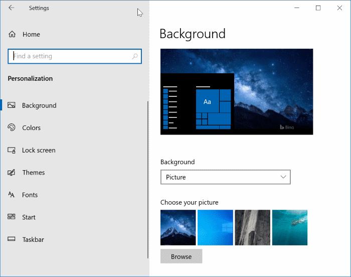 open settinsg in Windows 10 pic7