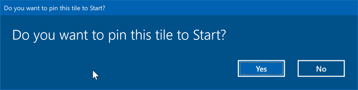 pin specific settings to Windows 10 Start menu pic1