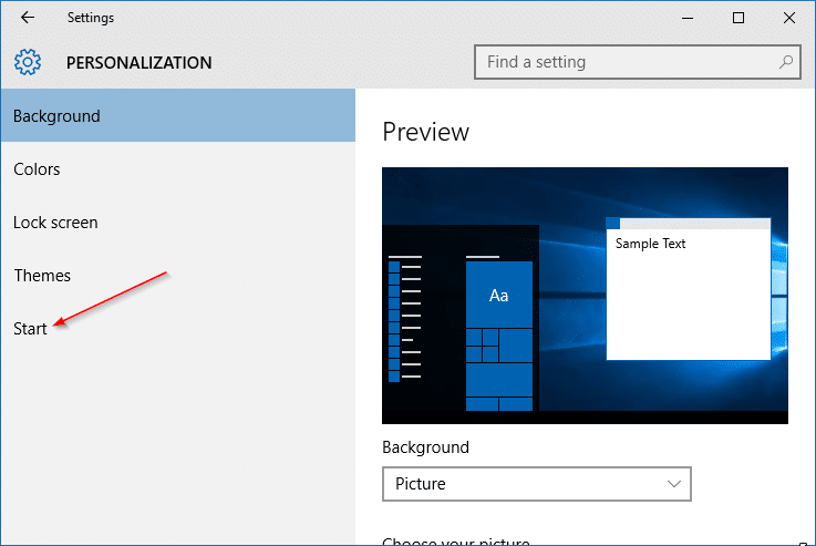 Add downloads and documents to Start menu step2