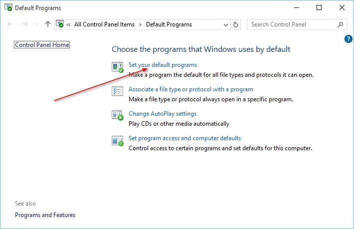 Change Default Browser In Windows 10 step7