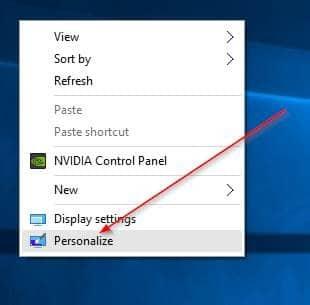 Change Desktop background Windows 10 step1