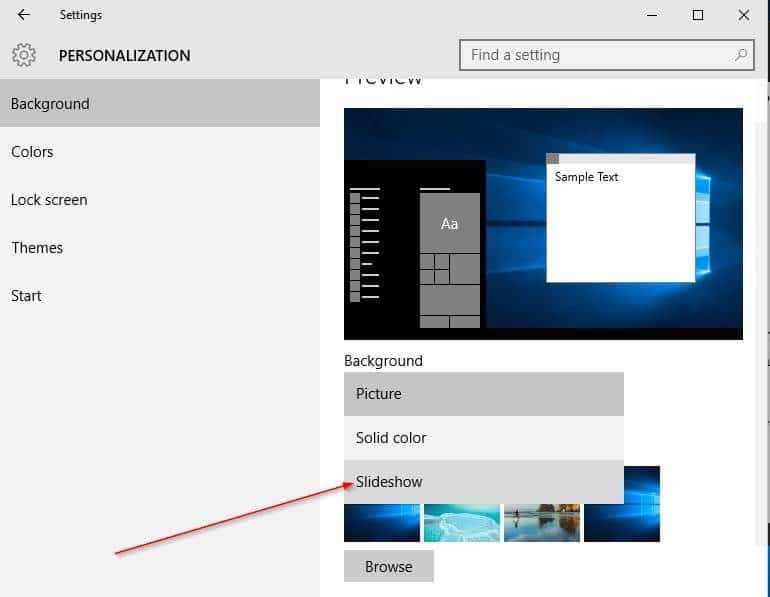 How to change desktop background in windows 10 for Change windows
