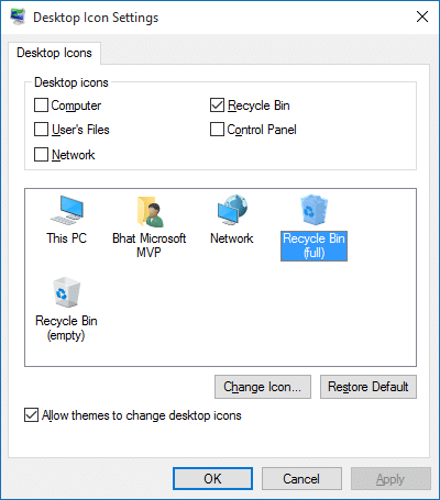 Change Recycle Bin Icon in Windows 10 step2