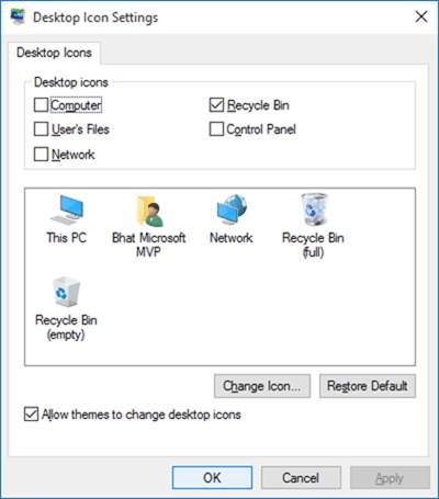Change Recycle Bin Icon in Windows 10 step3