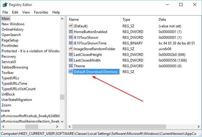 Change default download location in Microsoft Edge step4