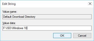 Change default download location in Microsoft Edge step5
