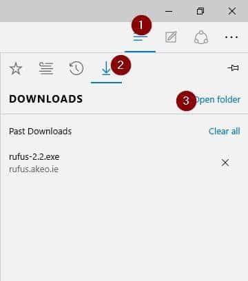 Change default download location in Microsoft Edge step6