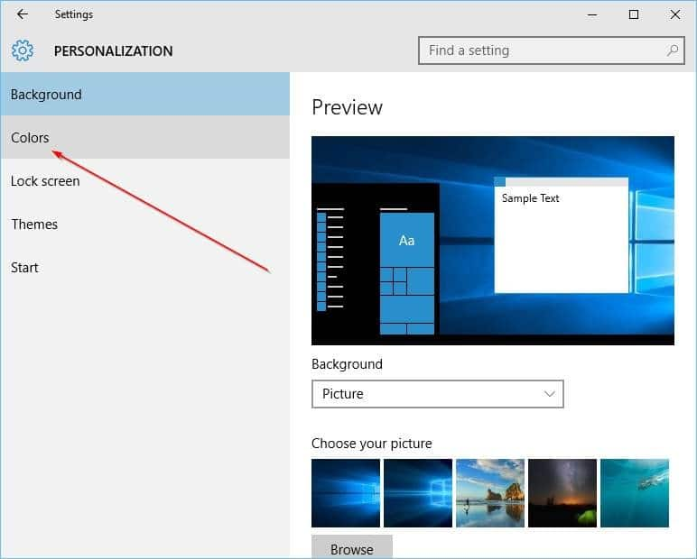 Change the color of taskbar in Windows 10 step12