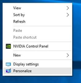 Change the color of taskbar in Windows 10 step1
