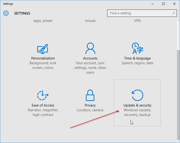 Check if your Windows 10 is activated step2