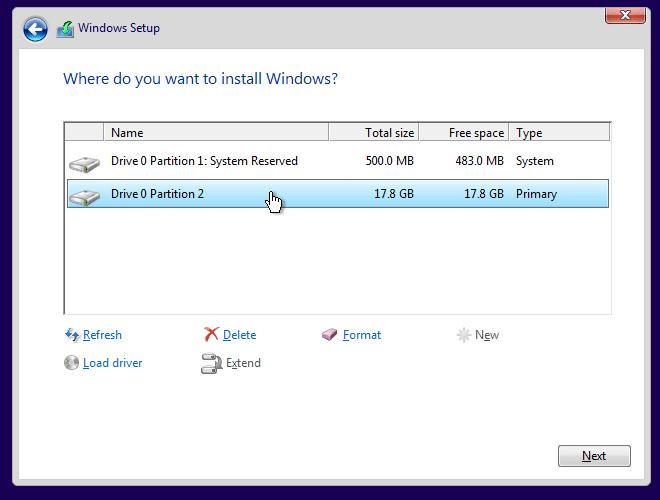 Clean install Windows 10 Step11
