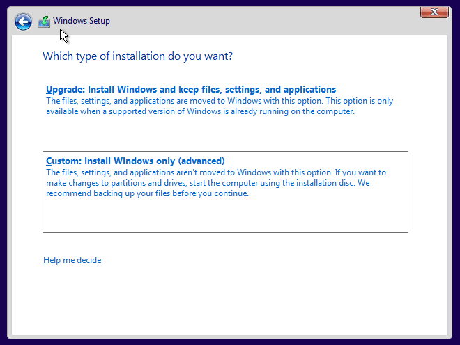 Clean install Windows 10 Step8