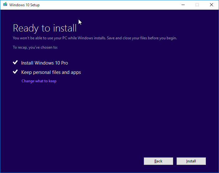 Clean install Windows 10 from ISO file step5