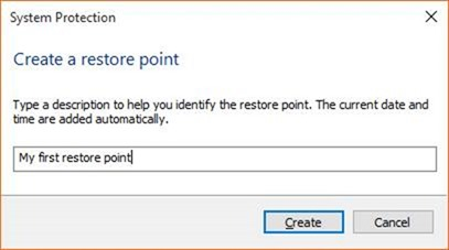 Create a Restore Point in Windows 10 step6