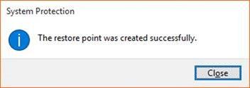 Create a Restore Point in Windows 10 step7