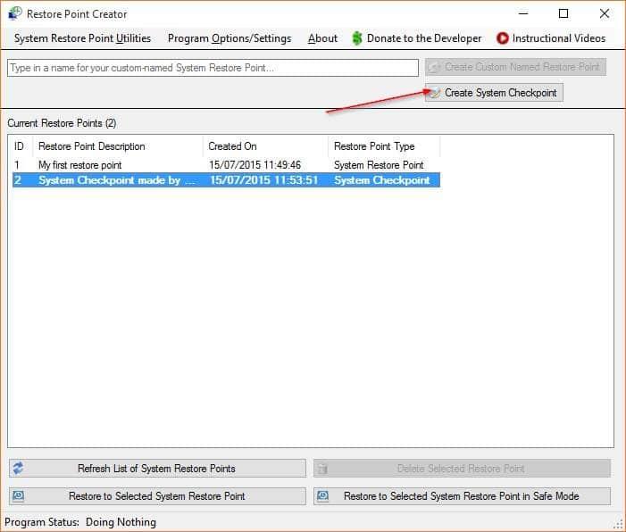 Create a Restore Point in Windows 10 step8