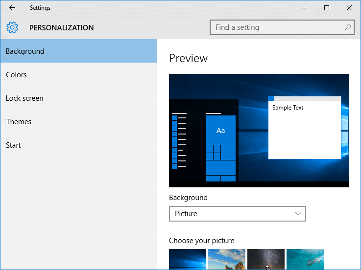 Difference between Windows 10 and Windows 8 or 8.1 Settings app