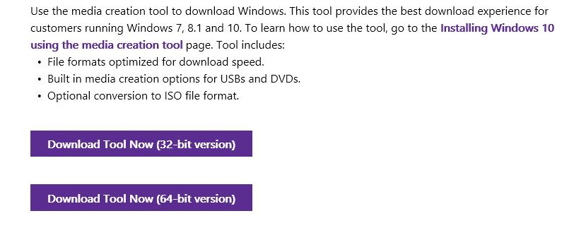 Download Windows 10 ISO step1
