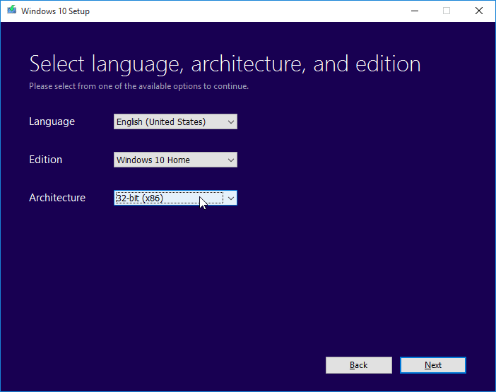 Download Windows 10 ISO step3