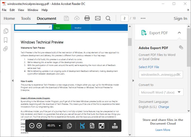 Adobe reader for mac os