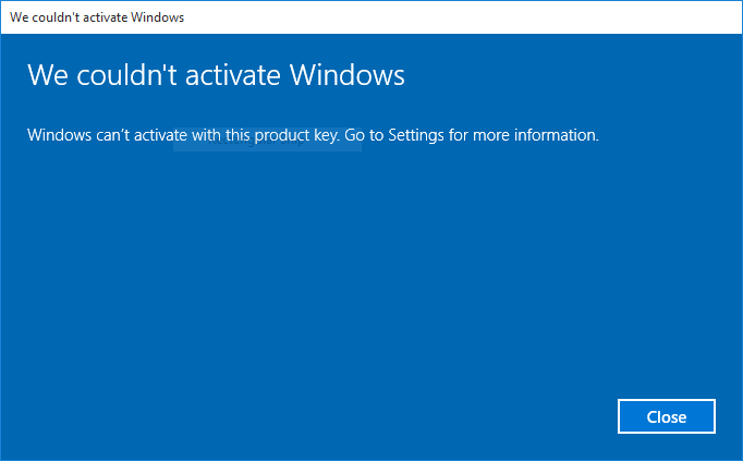 Know why your Windows 10 was not activated (2)