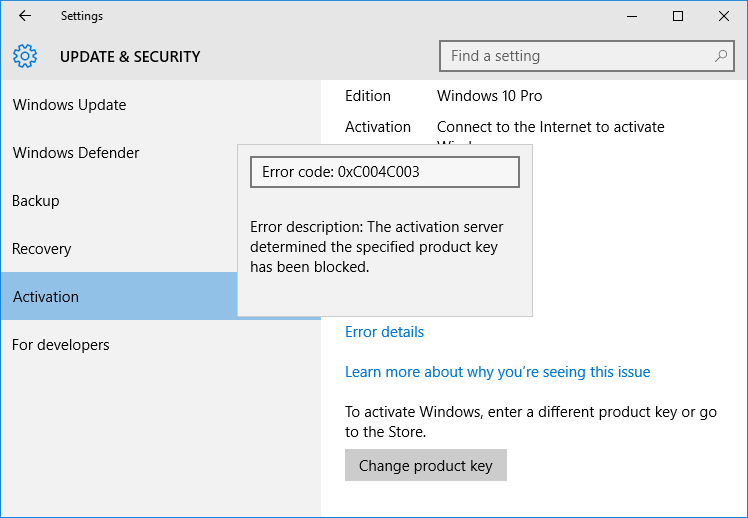 Know why your Windows 10 was not activated (3)