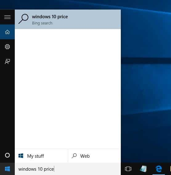 Make Google default in Windows 10 Taskbar