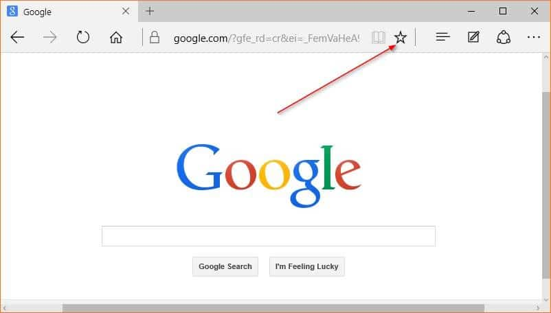 Make Google default search engine in Microsoft Edge step1