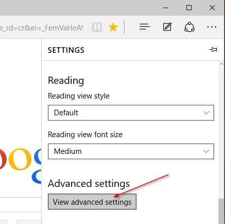Make Google default search engine in Microsoft Edge step4