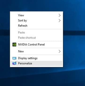 Open Start menu settings Windows 10