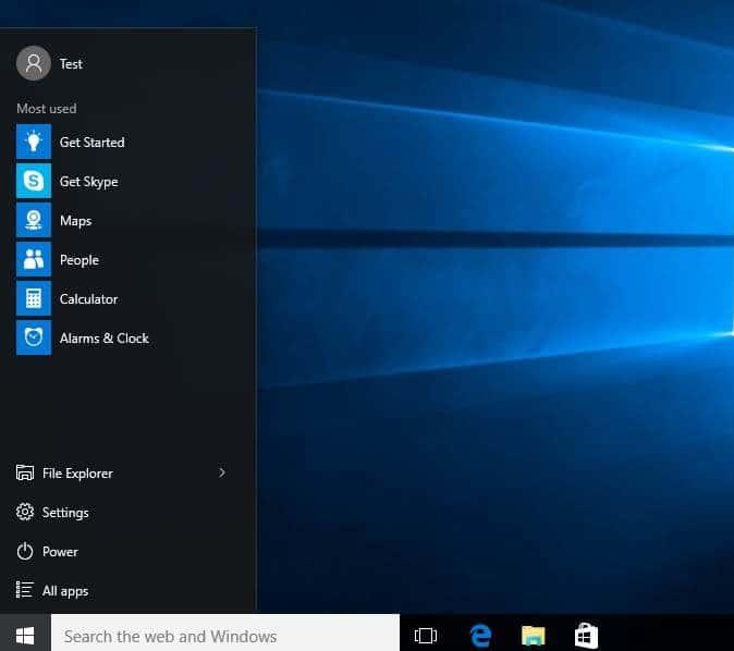 make Windows 10 start menu smaller or larger