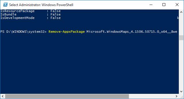 how to delete windows apps windows 10