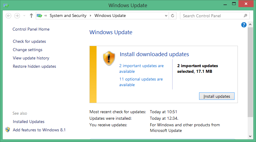 how to know if your windows is updating