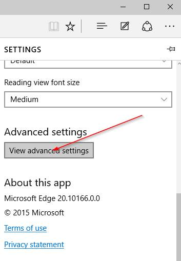 Change default search engine in Edge step4